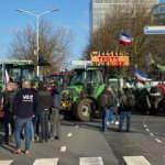 Binlerce traktörle şehir merkezine indiler! Avrupa'nın göbeğinde hayat durdu