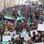Esed rejimine El Bab'da protesto