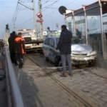 Durakta olan tramvay faciayı önledi