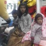 Panik anları! 3 çocuğu itfaiye kurtardı