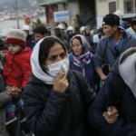 Binlerce sığınmacının bulunduğu Midilli'de koronavirüs görüldü