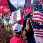 İdlib'deki Türk Askerlerine Los Angeles'ta destek gösterisi
