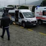 İşçileri taşıyan servis kaza yaptı: Yaralılar var