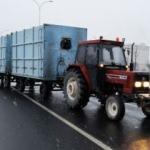 Karayolunda tersten giden traktör sürücüsünden ilginç savunma