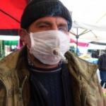 Tiryakiden korona maskesine sigara ayarı
