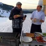 Abant Gölü kenarında yemek şöleni