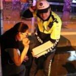 Alkollü kadın sürücünün ehliyetine 2 yıl el konuldu