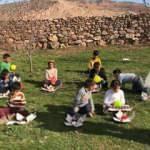 Doğubayazıt'ta çocuklar ilk kez doğum günü kutladı