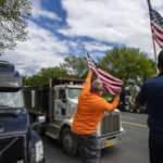 ABD'li tır şoförlerinden düşük nakliye ücretlerine protesto