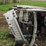 Feci kaza! Karantinadan çıkanları taşıyan otobüs devrildi: 16 yaralı