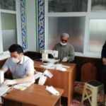 Zonguldak'ta din görevlileri 30 bin maske üretti
