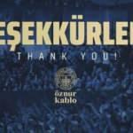 Fenerbahçe'den taraftara teşekkür mesajı