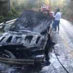 Muğla Marmaris'te yanan araç kullanılmaz hale geldi