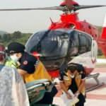 Ambulans helikopter üzerine sıcak su dökülen Alparslan için havalandı