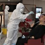 Karabük'te berber ve kuaförlere Kovid-19 testi yapıldı