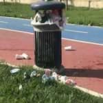 Küçükçekmece'de tepki çeken görüntü! Park çöple doldu taştı