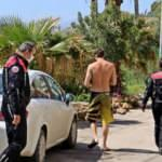 Polisten kaçıp ceza almamak için denize atladı