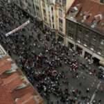 """Saraybosna'daki """"Bleiburg"""" ayini, faşizm karşıtlarınca protesto edildi"""