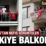 19 Mayıs coşkusuna Türkiye balkonlarında katıldı