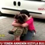 Kovid-19'u yenen annenin kızıyla buluşma anı yürekleri ısıttı