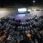 Nevşehir'de yüzlerce araç 'Arabalı Sinema' etkinliğine katıldı