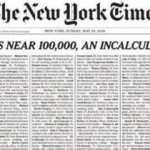 New York Times'dan çarpıcı Kovid manşeti: Ölenlerin isimlerini paylaştılar