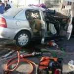 İş makinesine çarpan otomobilin sürücüsü öldü
