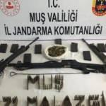 Muş'ta PKK'nın inlerinde ele geçirildi
