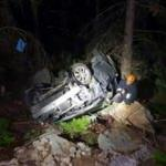 Antalya'da otomobil uçurumdan yuvarlandı: 1 ölü, 1 yaralı