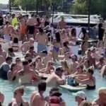 Amerikalılar akıllanmıyor! Salgının merkezinde havuz partisi verdiler
