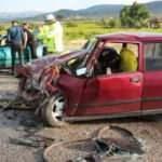 Takla atan otomobil başka araca çarptı: 1 ölü, 4 yaralı