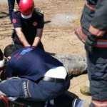 Araçların arasında kalan işçinin acı ölümü