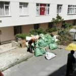 Evden çıkan çöpler ekipleri şaşkına çevirdi