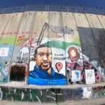 George Floyd'un resmi Batı Şeria'daki Ayrım Duvarı'na çizildi