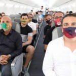 Alanyaspor ve Antalyaspor aynı uçakla yola çıktı