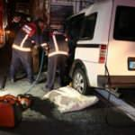 Ankara'da feci kaza! Hafif ticari araç, kamyona ok gibi saplandı