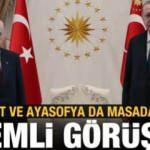 Erdoğan ve Bahçeli görüşmesi sona erdi!
