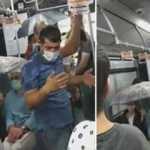 Metrobüste ilginç görüntü!