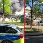 Almanya'da DİTİB camisinin şantiyesinde korkutan yangın