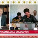 Erdoğan canlı yayında gençlere eşlik etti... O türküyü söylediler