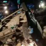 Sığınmacıları taşıyan minibüs devrildi: 1 ölü, 41 yaralı