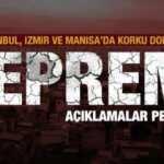İstanbul'da da hissedilen deprem! Saruhanlı merkez üssü! AFAD'dan açıklama