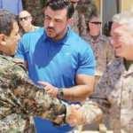 ABD'li komutan PKK'lı teröristle bir araya geldi