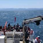 Ayvalık'ta 57 göçmen yakalandı