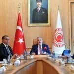 Şentop, KKTC Çalışma ve Sosyal Güvenlik Bakanını kabul etti