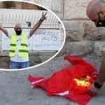 Tek kelimeyle alçaksınız! Türk konsolosluğuna saldırıp Türk bayrağını yaktılar