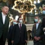 Cumhurbaşkanı Erdoğan Ayasofya Camii'nde! İşte ilk görüntüler...