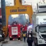 Tuzla'da korkutan gemi yangını