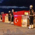 Van'da şehit olan polisler törenle memleketlerine uğurlandı