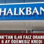 HalkBank Temel İhtiyaç Destek Kredisi 6 ay ödemesiz 10 bin TL kredi veriyor! Başvuru şartları